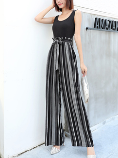 Black and White Wide Leg Pants Plus Size Jumpsuit for Party Evening Cocktail