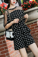 Black and White Loose Polka Dot Wide-Leg Two-Piece Shorts Jumpsuit for Casual Party