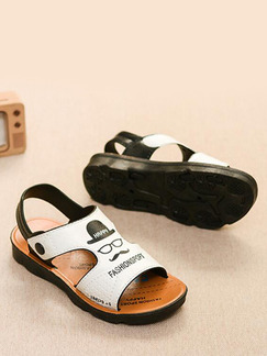 White Black and Brown Leather Comfort Boy Shoes for Casual