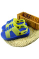 Blue and Green PVC Comfort Flip Flops Boy Shoes for Casual