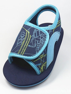 Blue Nylon Comfort Boy Shoes for Casual