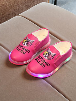 Pink Leather Comfort Girl Shoes for Casual Party