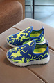 Blue Yellow and White Polyester Comfort Boy Shoes for Casual