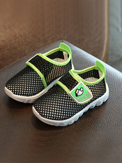 Green Black and White Polyester Mesh Comfort Girl Shoes for Casual Party