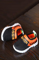 Black Orange White Polyester Comfort Boy Shoes for Casual
