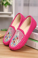 Pink Leather Comfort Flats Girl Shoes for Casual Party