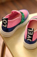 Pink and Green Polyester Comfort Platform Girl Shoes for Casual Party