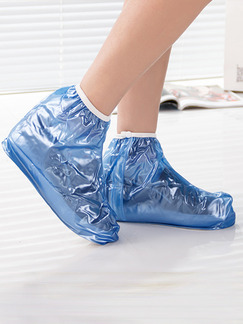 Blue PVC Waterproof Boy Shoes for Rain