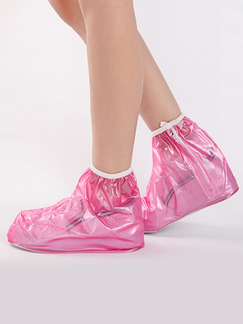 Pink PVC Waterproof Girl Shoes for Rain