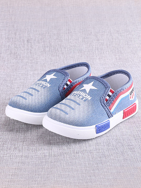 Blue Denim Platform Comfort Boy Shoes for Casual Party