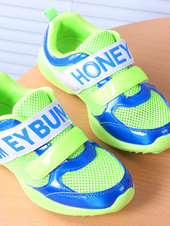 Blue and Green Polyester Comfort Boy Shoes for Casual