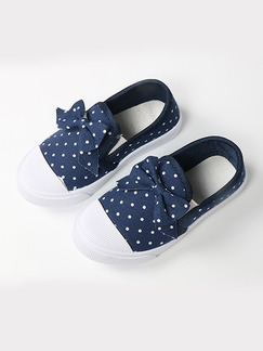 Blue and White Canvas Comfort Platform Girl Shoes for Casual Party