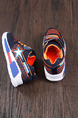 Blue Orange and White Polyester Comfort Lace Up Boy Shoes for Casual