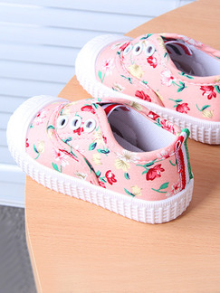 Pink Colorful Canvas Comfort Girl Shoes for Casual