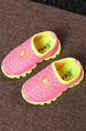 Pink and Yellow Polyester Comfort Slip On Girl Shoes for Casual