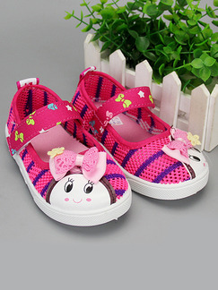 Pink Colorful Polyester Comfort Girl Shoes for Casual Party