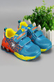 Yellow Orange and Blue Polyester Comfort Platform Boys Shoes for Casual