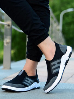 Black and White Mesh Round Toe Platform 3cm Comfort for Casual Athletic Outdoor