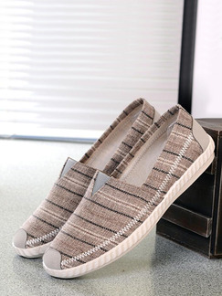 Beige Canvas Round Toe Platform 1.5cm Comfort for Casual