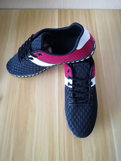 Black White and Red Mesh Round Toe Platform 1cm Contrast Strappy Linking for Casual