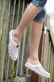 White PVC Round Toe Platform 1cm for Casual