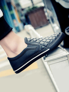 Black EVA Round Toe Platform 1.5cm for Casual