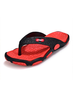 Red EVA Open Toe Platform 2cm for Casual Outdoor
