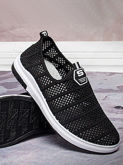 Black Mesh Comfort Shoes for Casual
