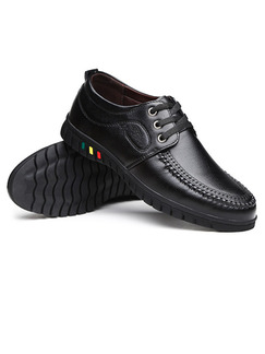Black Leather Comfort Shoes for Casual Office Work