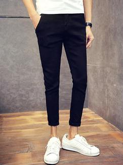 869d98b74afef Black Denim Loose Plus Size Loose Plus Size Slim Micro-elasticity Long Men  Pants for ...