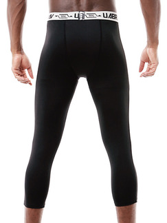 Black Plus Size Adjustable Waist Sports Tight Quick Dry Men Pants for Sports Fitness Outdoor