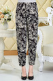 Black and White Loose Printed Harlen Long Pants for Casual Party