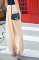 Gold Nude Loose High Waist Wide-Leg  Pants for Casual Beach