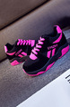 Black and Pink Suede  Round  Toe Platform Linking 3cm Outdoor Sports Athletic Lace Up