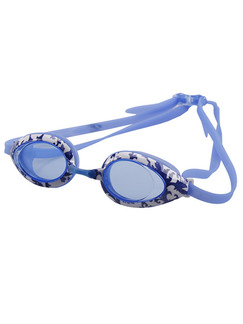 White and Blue Sport Goggles for Swim