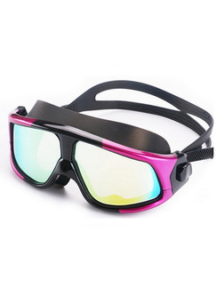 Purple and Black Goggles for Snorkeling