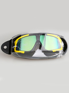 Yellow and Black Goggles for Snorkeling