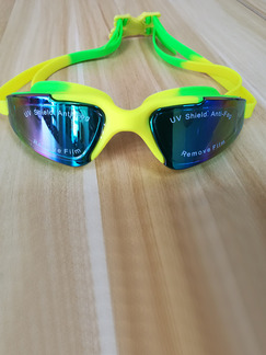 Yellow and Green Sport Goggles for Swim