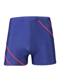 Blue Contrast Trunks Polyester Swim Shorts Swimwear