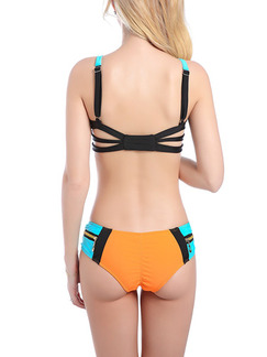 Colorful Two-Piece Set Bikini Nylon Swimwear
