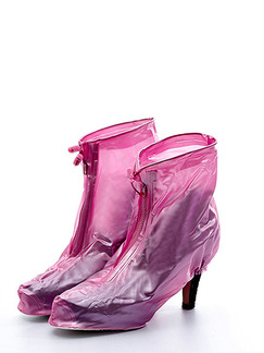 Pink PVC Waterproof  Shoes for Rain