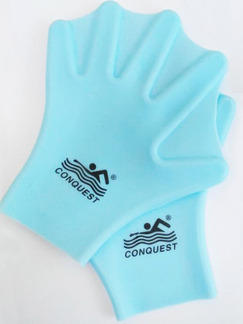 Blue Adults Unisex Webbed Gloves Swimwear for Swimming Snorkeling