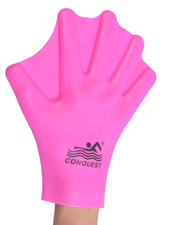 Pink Women Webbed Gloves Swimwear for Swimming Snorkeling
