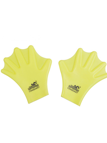 Yellow Adults Unisex Webbed Gloves Swimwear for Swimming Snorkeling