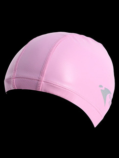 Pink Women Paint-Coat Obscure Cap Swimwear for Swimming