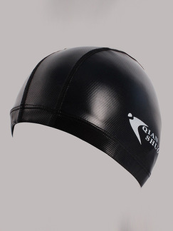 Black Adults Unisex Paint-Coat Obscure Cap Swimwear for Swimming