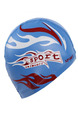 Blue Red and White Men Paint-Coat Located Printing Cap Swimwear for Swimming