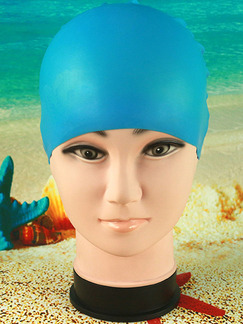 Blue Adults Unisex Waterproof Cap Swimwear for Swimming