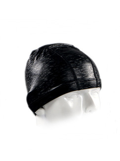 Black Adults Unisex Paint-Coat Mosaic Cap Swimwear for Swimming