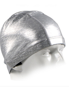 Grey Adults Unisex  Paint-Coat Mosaic Cap Swimwear for Swimming